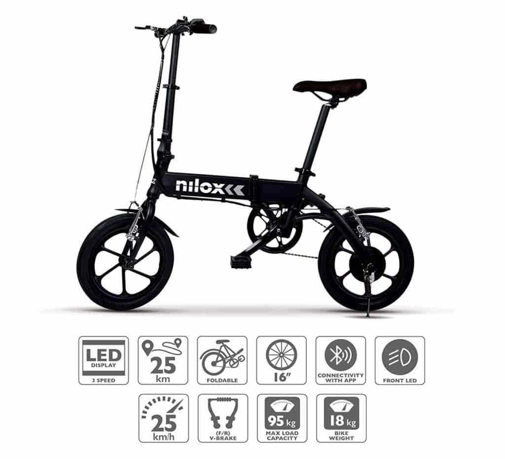 Nilox X2 Plus plegable portable electrica